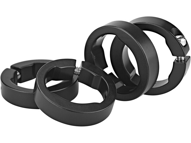 Sixpack Spare clamping rings, black